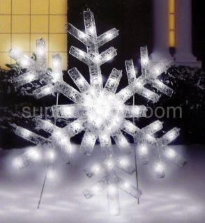 New 36 Inch Multi Function Cool White LED Snowflake Christmas Decor