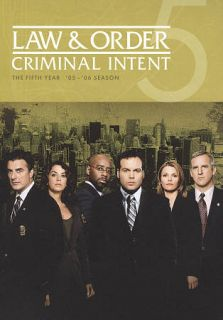 Law Order Criminal Intent   The Fifth Year DVD, 2010, 5 Disc Set