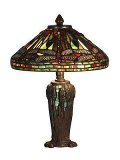 Dale Tiffany TT10333 Antique Bronze / Verde Dragonfly Jewel Tiffany