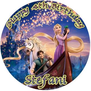 TANGLED Round Edible CAKE Image Icing Topper Rapunzel