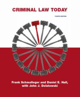 , Frank J. Schmalleger and Daniel E. Hall 2009, Paperback