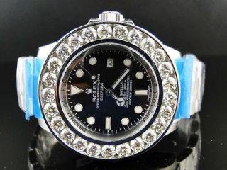 Mens Brand New Custom Rolex 46 Mm Sea Dweller Deep Sea Genuine Diamond