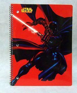 Darth Vader With Lightsaber Spiral Notebook Vintage 2005