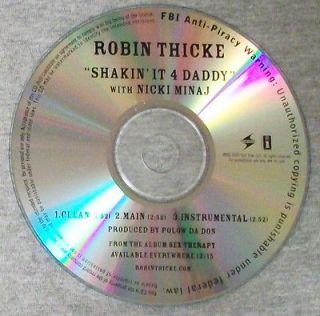 Robin Thicke   Shakin It 4 Daddy f. Nicki Minaj X3   U.S. PROMO cd r