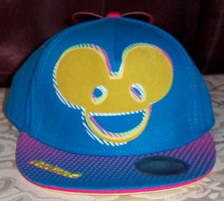 b4d96769a80 ... DEADMAU5 Deadmouse HD Print BLUE Snapback Adjustable Baseball Cap HAT   Licensed Deadmau5 Deadmaus Tri Patterned MAU Flat Bill ...