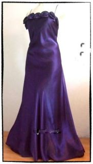 purple evening COCKTAIL WEDDING prom debs DRESS 8 10 12