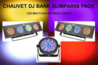 DJ BANK SP56 PACK (3) LED WASH LIGHTS $15 INSTANT OFF BAND CLUB DJ DUO