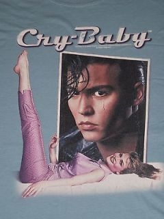 Cry Baby (Movie) Johnny Depp T Shirt (Size XL, Color Light Blue
