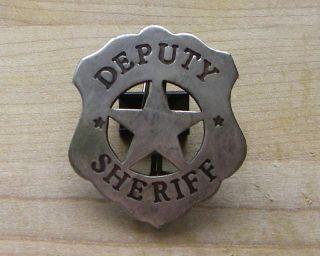 DEPUTY SHERIFF BADGE BW  16 WESTERN MARSHALL POLICE