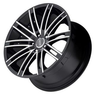 Arcana staggered black wheels rims 5x115 Cadillac CTS STS Deville