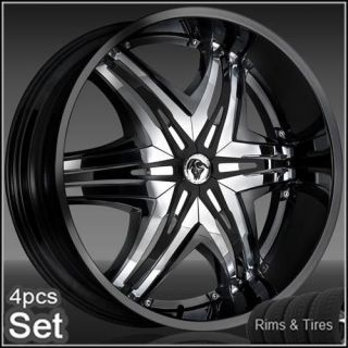 24 Diablo Wheels and Tires PKG for for Chevy,Ford,Dodge,Ram Rim Tahoe