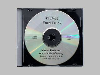 1957 63 Ford Truck & Van Complete Master Parts Catalog