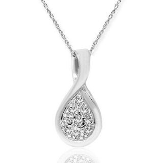white gold diamond pendant in Diamond
