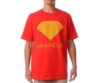Diamond Supply Co. Retro T Shirt Red Yellow Life Gold OG Logo smoke