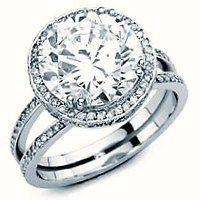 moissanite engagement ring in Engagement & Wedding