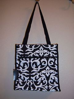 Personalized Damask tote bag   Lunch Diaper Great personalized gift