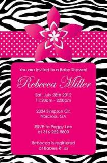 Print GIRL Flower Personalized Baby Shower Invitation Print your own