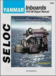 COMPLETE YANMAR INBOARD DIESEL ENGINE REPAIR & SERVICE MANUAL 1975