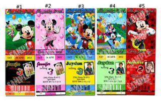 Mickey Minnie Mouse Donald Club House Custom Birthday Party invitation