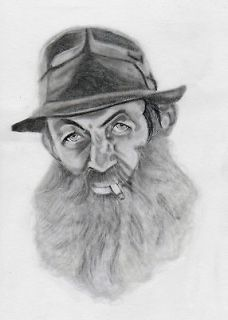 Popcorn Sutton   Portrait Print   5x7 framed.