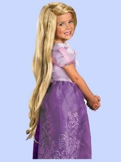 Disguise Halloween Child Rapunzel Tangled Loose Wig Long Blond New