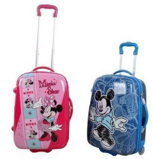Kid Disney Mickey or Minnie Mouse Luggage Bag Baggage Trolley Roller