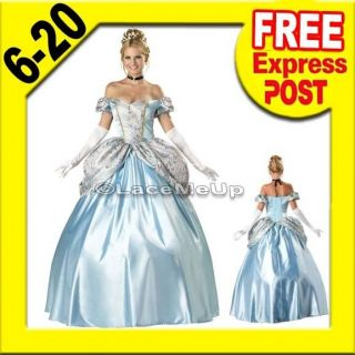 CINDERELLA COSTUME fancy dress deluxe Ladies sz 6 20