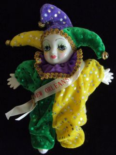 mardi gras dolls in Dolls & Bears