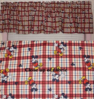 Mickey Mouse Walt Disney Nursery Baby Room Boy Girl Valances Curtains
