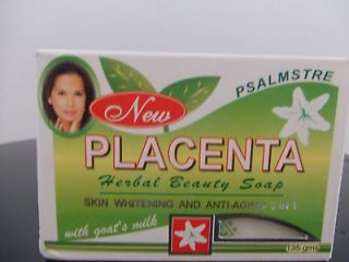 NEW PLACENTA HERBAL BEAUTY SOAP SKIN WHITENING & ANTI AGING W/ GOATS