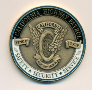 CHP WINGED WHEEL CHALLENGE COIN (POLICE FBI CALIFORNIA HIGHWAY PATROL