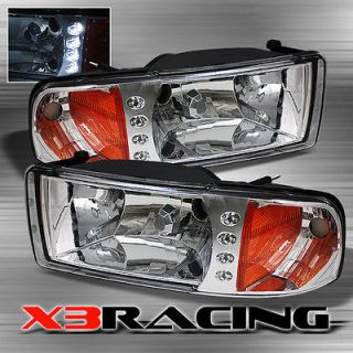 94 01 DODGE RAM 1500 2500 3500 CRYSTAL LED HEADLIGHTS LIGHTS LAMPS
