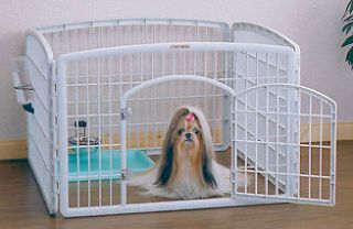 Pet Dog Play Pen Fence Kennel Crate RIS CI 604【2SETS】