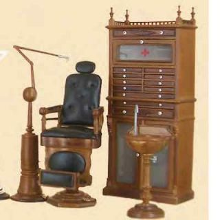 Bespaq Dollhouse Miniature furniture Doctor Dentist Dental medical