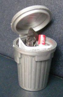 Plastic Dustbin With Rubbish Dolls House Miniature Garden Accessory