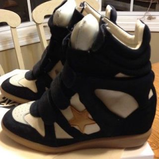 FALL 2012 ISABEL MARANT SPRING 2013 BASKET STAR WEDGE SNEAKERS SZ 40