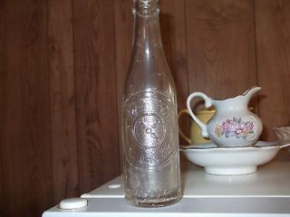 Vintage Dr. Pepper Embossed Glass Pop Soda Bottle 10 2 4 Clock Good