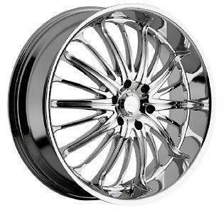 22 inch 22x8.5 Akuza Belle chrome wheels rims 5x114.3
