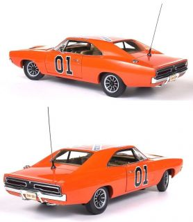 AUTOWORLD AMM964 118 1969 DODGE CHARGER GENERAL LEE DUKES OF HAZZARD