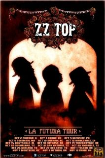 ZZ TOP box office concert POSTER 2012 tour