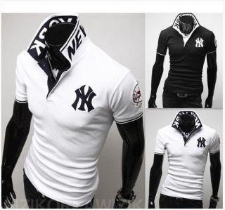 New Fashion Mens Slim fit Casual Polo Shirt T Shirt Short Sleeved