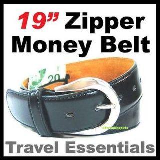 Leather Black Money Belt / Travel Belt   XL 41 45 / 19 Secret