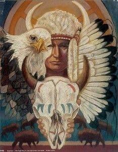 EAGLE EYE 8x10 In. Native American Theme Print