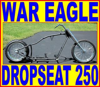 WAR EAGLE LOW PRO STREET CHOPPER 250 RIGID COMPLETE ROLLING CHASSIS