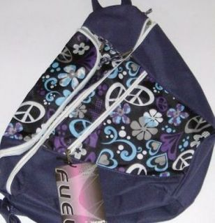 Eastsport Purple Peace Sign & Flower Backpack Sport School Travel