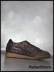 Mens Sneakers L3080228 Camoscio Torba Ecuador Castagna Leather Brown