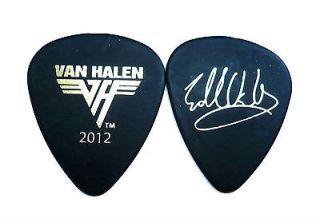 VAN HALEN GUITAR PICK  EDDIE VAN HALEN 2012 TOUR GUITAR PICK BLACK
