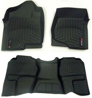 Black Floor Liners 2007 2010 Ford Edge Lincoln MKX Front/Rear Set