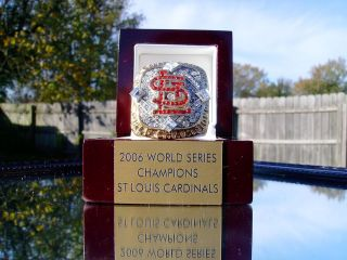 St Louis Cardinals World Series Championship Ring Edmonds not 2011 18K
