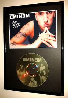 EMINEM (2)   SIGNED FRAMED GOLD CD DISPLAY marshall mathers slim shady